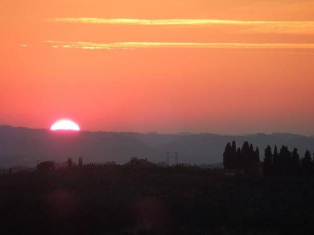 zonsondergang-chianti-eind-september-2014-3